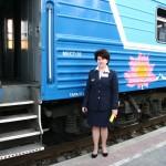 Выставка железнодорожной техники на астраханском вокзале